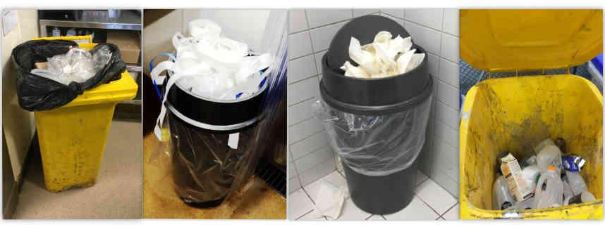 Traditional Waste Bins