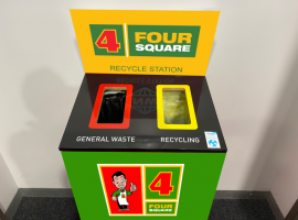 Four Square Waste Bin